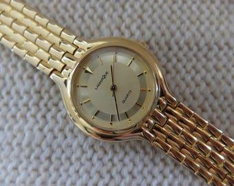 La Marque Quartz 1980s gold plated watch