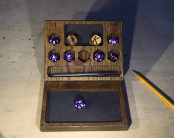 Essentials Dice Box - for DND, Dungeons and Dragons, RPG, Dice Case, D20