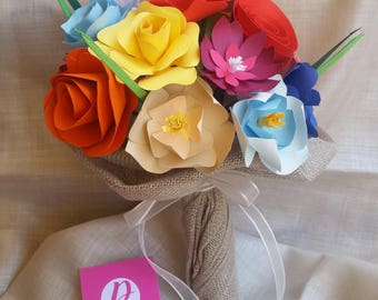Multicolored card Country bouquet