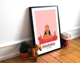 Rihanna Poster Print / Rihanna / Merchandise / Wild Thoughts Poster / DJ Khaled / Music Poster / RIRI / RiRi