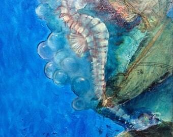 Original seahorse painting