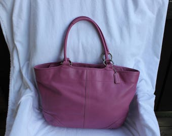 Rare Vintage Coach Pink Large Tote Style 5167