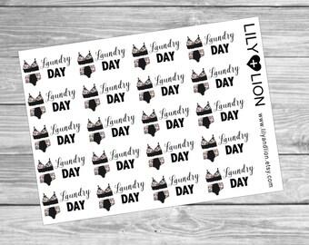 LAUNDRY DAY - Planner Stickers - Diary - Kikki k - Plum paper - Happy Planner - Filofax - TN - Erin Condren - ec - Knickers Bra