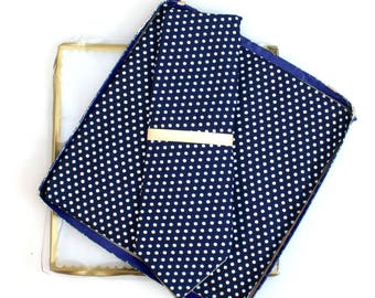 Mens Ties and Handkerchief//Polka Dot Tie//Mens Attire//Suit Tie