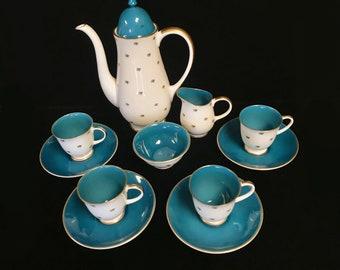Teal English Tea Set