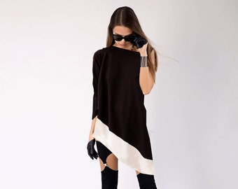 Black Tunic Top, Oversize Tunic, Tunic Tops, Tunic Dress, Tunic for Women, Black Tunic Tops, Summer Tunic, Off Shoulder Tunic, Markiiza