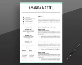 Professional Resume Template. Modern Resume Template. Clean Resume Template. Professional CV Template, Teacher Resume. Instant Download.