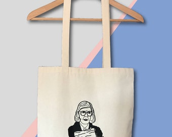 Twin Peaks Tote The Log Lady Canvas Bag Screen Printed