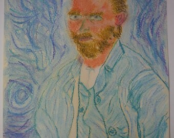 Vincent Van Gogh Self-Portrait, September 1889 Pastel