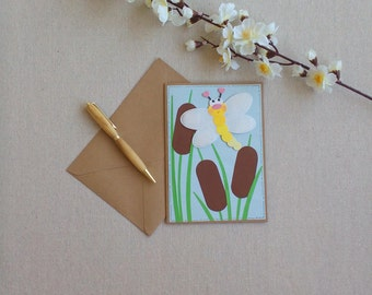 Dragonfly, dragon fly, all occasion cards, cartoon, greetings cards, dragonflies, insects, cards for her, cards for him, kids cards, kids