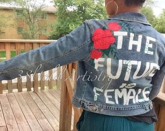 The Future Is Female Custom Painting