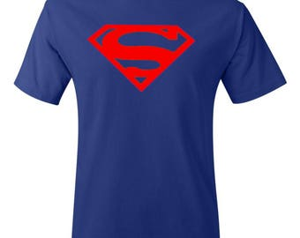 Superman Logo Shirt in Blue - DC Shirt - Superman Shirt - Comic Shirt - Superhero Shirt