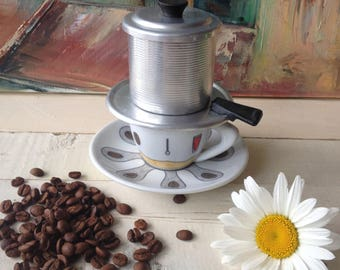 Vintage Coffee Maker, Vietnamese Coffee, Rare Coffee Maker, Retro Coffee  Maker, Coffee