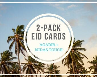 2-Pack Eid Cards (Agadir and Midas Touch)
