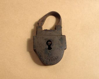 Lock antique,locks,archeological finds,brass lock,old russia vintage,little padlock,collectible