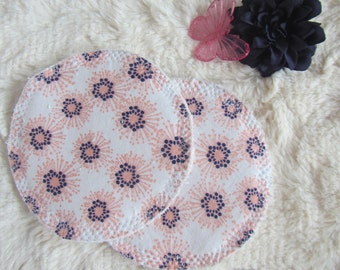 Bamboo,Reusable Breastfeeding Pads,Pink Flowers,Nursing Pads,Washable Pads,Nursing,Baby Shower Gift,Breastfeeding,pink,Mom Cloth,breastpads
