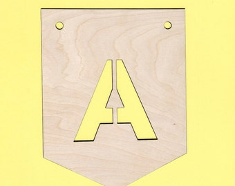 Custom decorative flag / banner letter / wall decor / wooden pennant / flag personalized