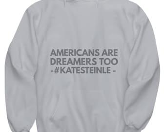 Hoodie - Americans Are Dreamers Too - Gray