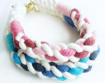 His & Hers Cable Nautical Rope Dog Collar