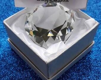 Oleg Cassini Crystal Heart Paperweight