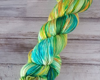 Sour Patch Kids | Fingering Sock Yarn | Superwash Merino Wool/Nylon | Handpainted Yarn