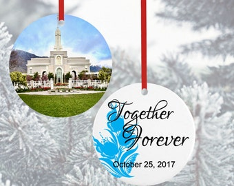 LDS Temple Ornaments*Christmas Ornaments*LDS Gift*Mormon Treasures*Temple Marriage*Mormon Ornament*Gifts for the Couple*Wedding Gift