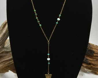 Peruvian Opal and Turquoise Necklace