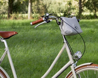 Bike Pannier/handlebar bag/bicycle bag/ bike bag/ cycle bag/ bag pannier/ simple pannier/grey with light sparkles