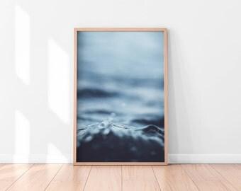 Ocean Water, Ocean Waves Print, Ocean Water Print, Coastal Wall Decor, Beach Art, Printable Poster, Digital Print, Digital Download, Water