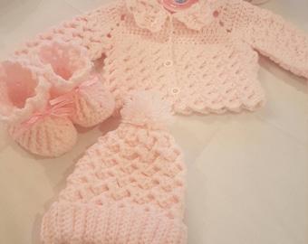 Baby Cardigan Set