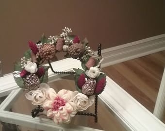 Spring or Fall Decorative Floral Wreath