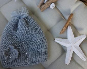 Toddler Hat for Girls | Kids Winter Hat | Pom Pom Hat for Girls | Hat for Kids | Knit Pom Pom Hat | Knit Toddler Hat | Slouchy Hat for Girls