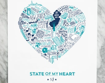 State of My Heart New Jersey Digital Art Print