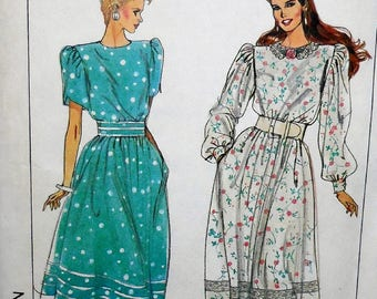 Simplicity 9013 - Very 1980s Fashion Dress - Modest Dress - Size 22 & 24 - Bust 44 and 46 - Curvy Fashion - Vintage Pattern UNCUT Office