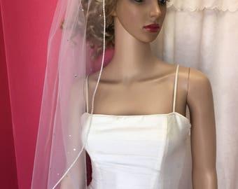 Romantic Veil, ELBOW Length Veil, Crystal Veil, BLUSHER Veil,One Tier Veil, Soft Veil, Soft Wedding Veil, Single Tier Veil, Drop Veil, VEILS