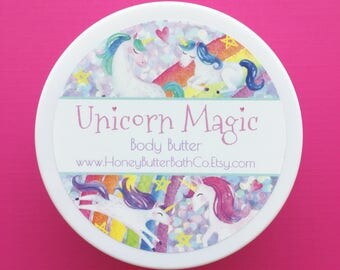Unicorn Magic Body Butter | Fruit Loops | Frosting | Birthday | Lotion | Sprinkle | Unique | Gift for Her | Cream | Bath | Beauty | Mom |