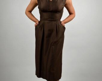 Vintage Suit Dress, Dress & Matching Coat, 50s Dress, Wiggle Dress, Dress Suit, Swing Coat, Pencil Dress, Professional Suit, Free Shipping