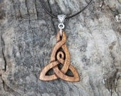RESERVED FOR KAREN, Handcarved 5000 Years Old Irish Bog Oak Mother And Child Celtic Knot Necklace