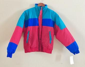 Vintage 80's-90's ski jacket, vintage ski coat, 1980's ski, 1990's ski, vintage ski jacket
