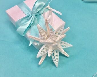 Starfish Christmas Ornament, Coastal Christmas Ornament, Beach Christmas Decor, Beach Decor