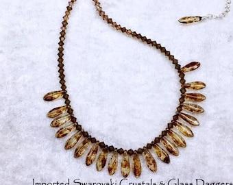 Crystalline Cree Necklace of Swarovski Crystals