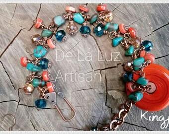 Kingfisher - Bracelet & Earring Set