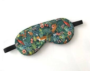 Sleep Mask / Eye Mask  - Rifle Paper Co. Jungle Print - Gift for Her - Stocking Stuffer for Mom - Travel Mask - Travel Accessory