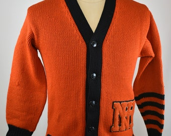 Vintage Lowe & Campbell Athletic Goods Co. Letterman sweater NH