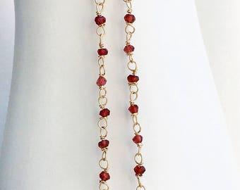 Garnet Earrings, Rose Quartz, Gemstone Earrings