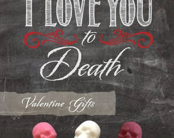 Gothic Valentine Sweets Assortments // Gothic Valentine // Valentine Skull Gift // Skull Gift / Sugar Skulls // Nightmare Before Christmas