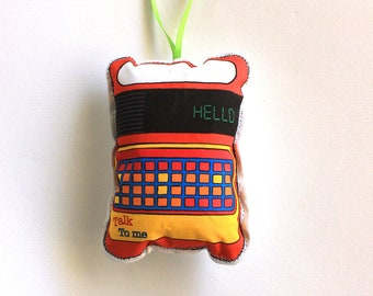 1980s Speaking toy Christmas Ornament: Soft Plush ornament