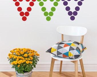 "Rainbow Polka Dots Peel and Stick   // 220 -  2"" dots per pack // Polka Dots Decals // Nursery Wall Decor // Polka Dot Stickers"