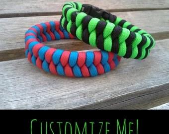 Paracord Bracelet Custom Fishtail Fishbelly Weave