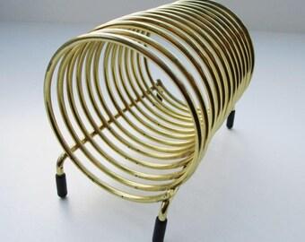 Vintage Gold Spiral Letter Holder